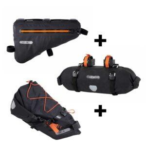 Equipamiento, bikepacking ElBurro Rack, alforjas y accesorios para tu ruta cicloturista con tu bicicleta mtb, e-bike o gravel.