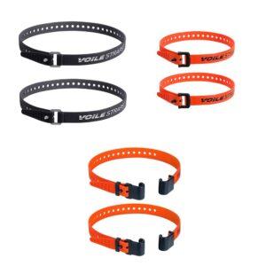 kit de voile straps con dos cintas de aluminio de 63cm, dos cintas de rack y dos cintas de nylon de 50cm