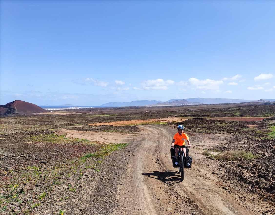 Ruta de cicloturismo con alforjas en Gran Canarias